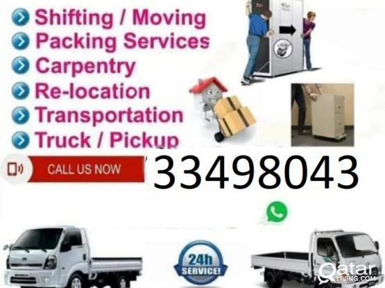 All kinds of shifting and moving works. Please contact 33498043
