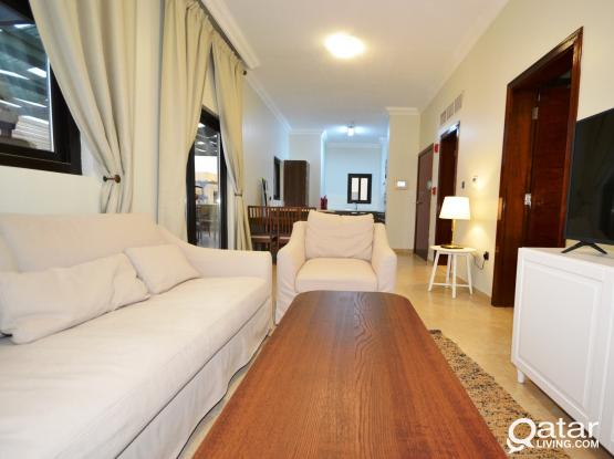Furnished 1-bed compound apartment in Al Waab