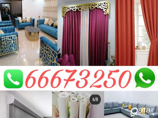 Home Decor, sofa upholstery, new curtains and sofa making