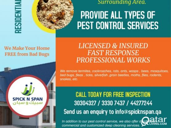 Best affordable pest control services And Deep Cleaning