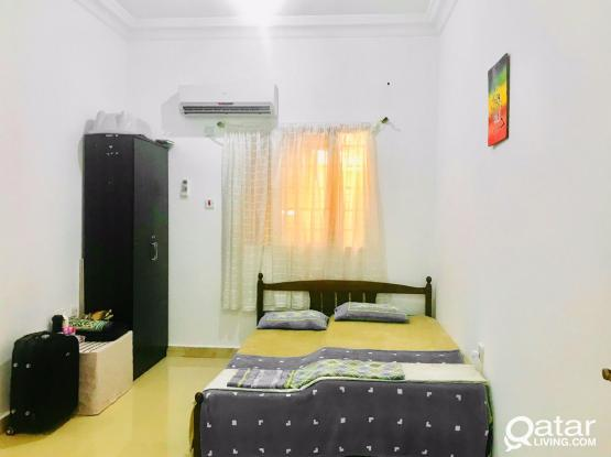 FULLY FURNISHED STUDIO FOR FAMILY.IN BU HAMOUR
