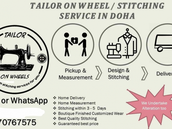 Tailor On Wheels.We Have Tailoring Stitching Servi