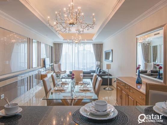 EXCLUSIVE DEAL: High Floor 2BR Apartment in VIVA | The Pearl - Qatar