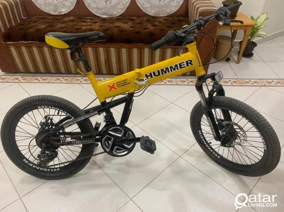 HUMMER FOLDABLE CYCLE FOR SALE.