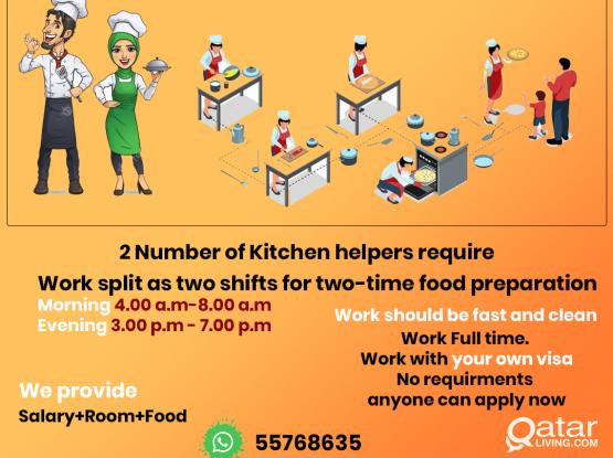 We are looking the Kitchen helper