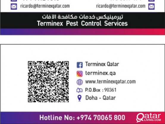 Terminex Pest control and cleaning service