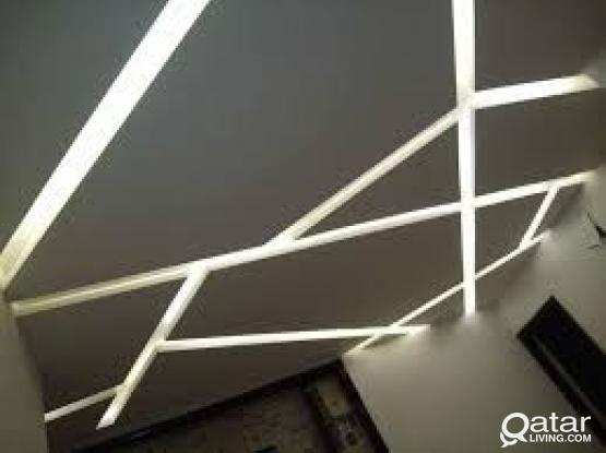 Gypsum Ceiling & Partition , Corniche , Paint, Decor & Moulding works at affordable competitive pric