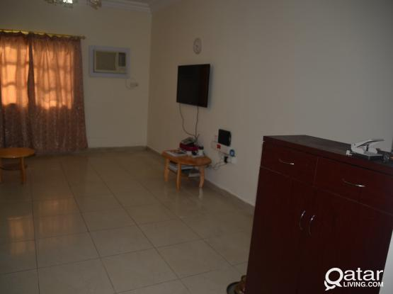 Fully furnished shared Accomn, 1 Big room(1BHK) with attached bath for Bachelor/Couple married