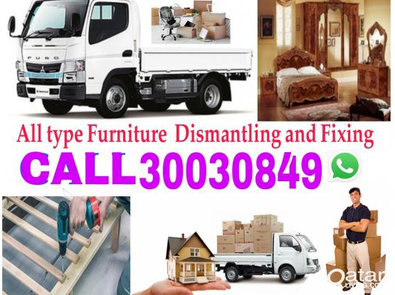 Call us 30030849 Shifting & Moving Furniture Dismantling and fixing,Truck,pickup available,Houshold items packing and Transportiton service.