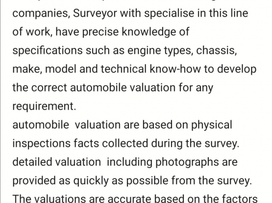INDEPENDENT VEHICLE VALUVER & ASSESSOR FOR CARS