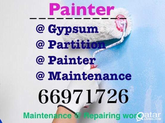 Gypsum Partition , Painte & Maintenance