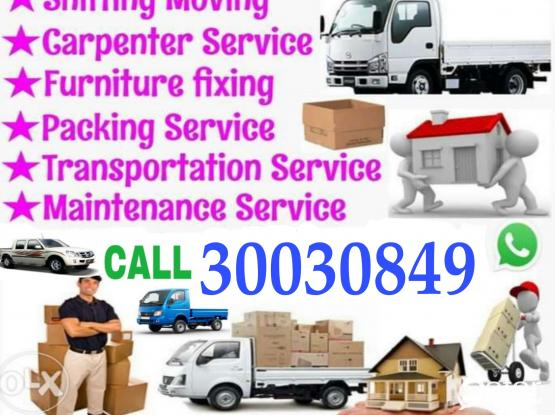 Call 30030849 Shifting & Moving Furniture Dismantling and fixing,Truck,pickup available,Houshold items packing and Transportiton service.