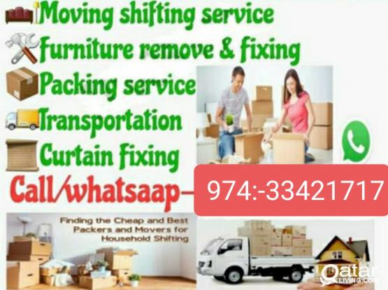 Doha Best  Moving & Furniture Shifting Co. Buying house hold used furniture item Call & WhatsApp Me:974:-33 42 1717.Carpenter Work & Big & Small truck have.Now Discount offer. Our Service 24/7 hour Doha city.Now Stop holidays work service.
