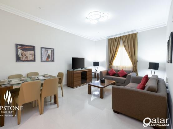 Comfy 2-Bedroom Furnished Apt in Umm Gwailina