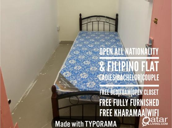SMALL PARTITION ROOM IN AL SADD METRO STATION| OPEN TO ALL NATIONALITY| 1050 QAR