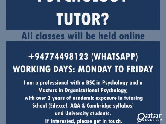 Online Psychology Tutoring