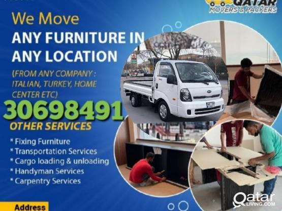 Moving and shifting services at reasonable price. Please contact- 30698491