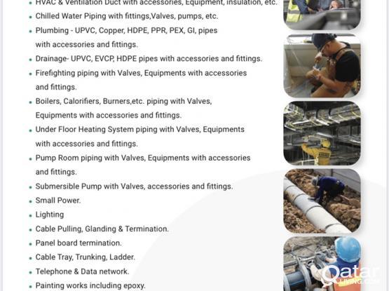 We do MEP / Maintenance Works