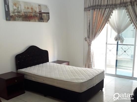 Big Master BedRoom with Terrace,Le Mirage Aprt. Mansoura(Good for 1 Bachelor only)