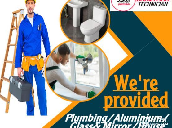 PLUMBING ELECTRIC ALUMINIUM GLASS SERVICE.CALL 55018975