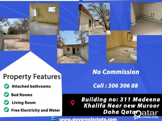 Studio for rent in Madinat Khalifa Families preferred NO COMMISSION