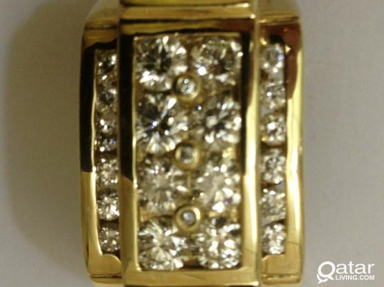 2.0 CT Diamond ring for men.