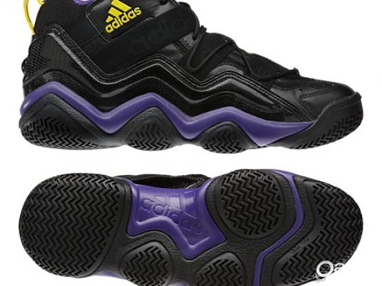 Adidas Top 10 2000 Basketball Shoes-Lakers Color Sz 12