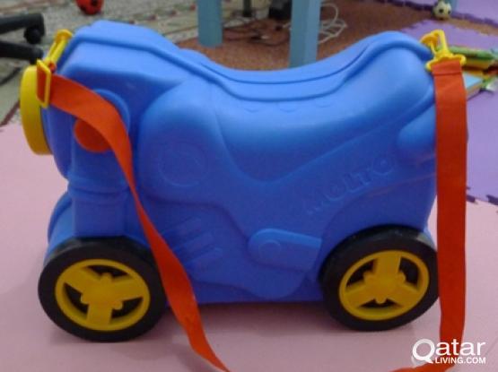Wheeled Toddler Motorcycle Suitcase