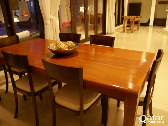 Beautiful Indonesian Mahogany Diner Table Qatar Living