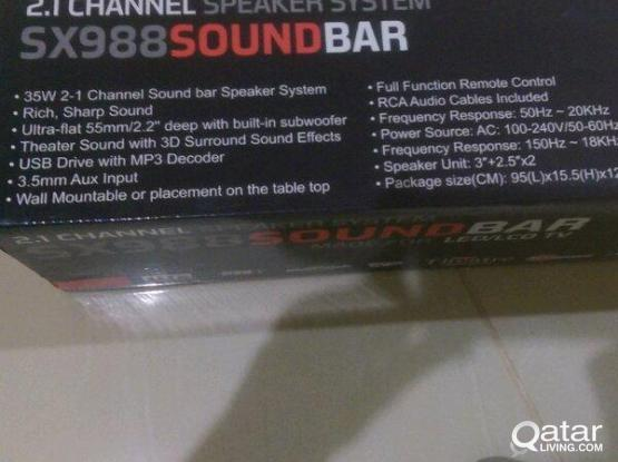 Sound Bar home theater in-built subwoofer brand new for sale