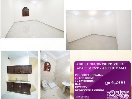 2BHK Unfurnished Villa Apartment nearby PSD- India