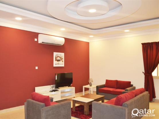 Furnished 2 bedrooms + maids room  in Mamoura