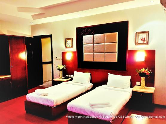 Fully Furnished Deluxe Twin Bedroom
