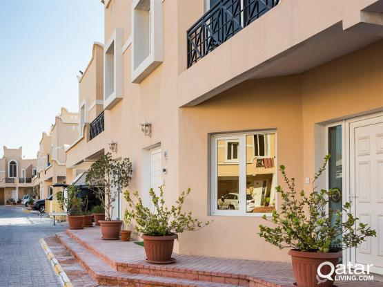 No commission| 2 bedroom, with private backyard, including utilities, QR 8500/-