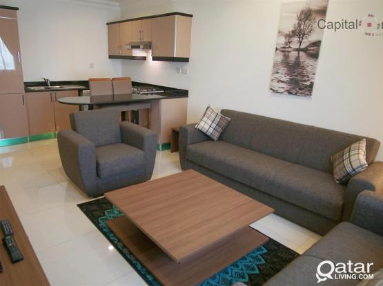 1MONTH FREE! F/F 1BHK in the Heart of Doha - all inclusive W&E + FREE Internet