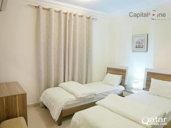 Spacious and FF 2 BR Apartment│Heart of Doha