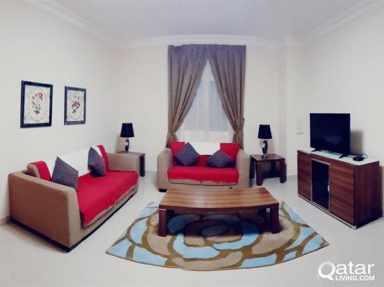 LUXURIOUS 2-BHK APARTMENTS for FAMILY & EXECUTIVE BACHELORS - FULLY FURNISHED - UMM GHUWAILINA