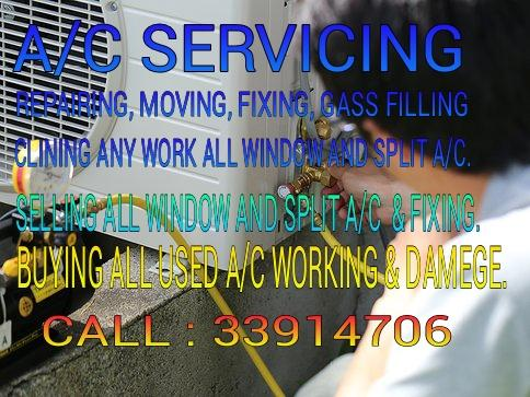 A/C SERVICING,SELLING & BUYING ALL A/C. (33914