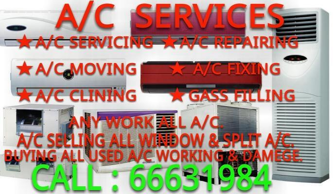 A/C SERVICING,REPAIRING,MOVING,FIXING,CLINING,GASS