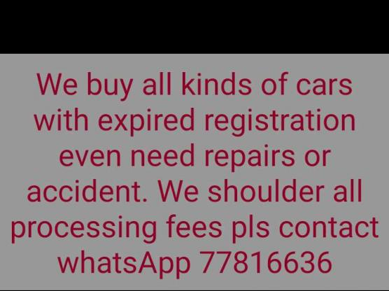 looking for car expired registration