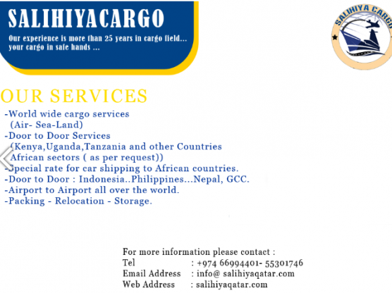 Cargo Services all over the world