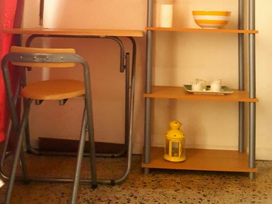study table and bookshelf