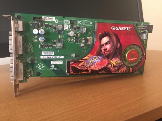 GIGABYTE NVIDIA GeForce 7950 GX2 GPU