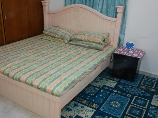 DOUBLE BED WITH NEW MEDICATED MATTRESS.
