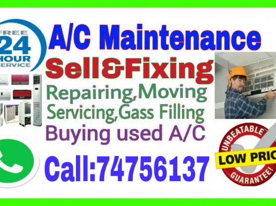 A/C Sale andService, Repair, Remove Call:74756137