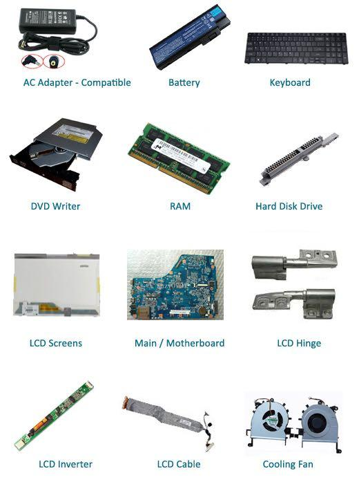 All type of Laptop Accessories & Service Avail