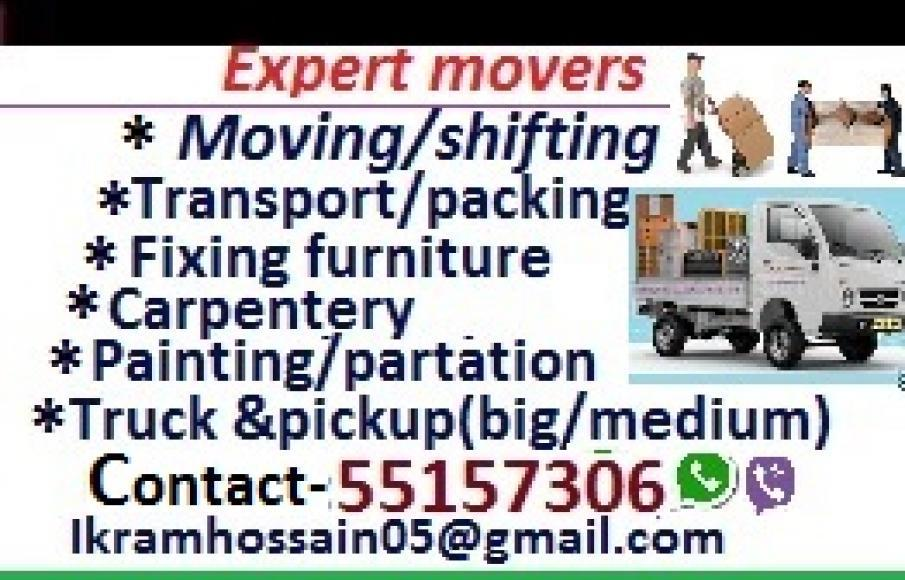 We do less price' House shifting, moving, carpentery pickup/truck  & transportation servic