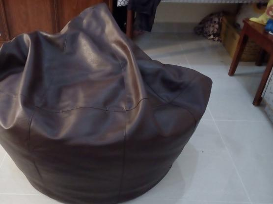 Bean bag full size leather