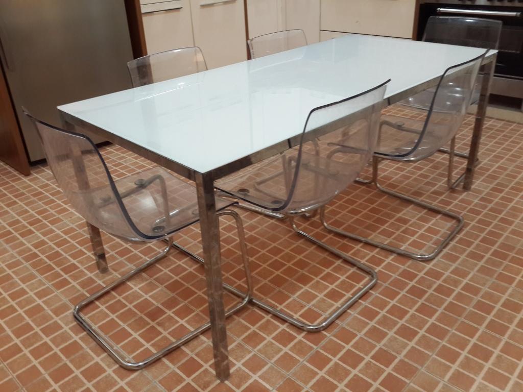 Merveilleux Dining Table, 6 Seater Hard Plastic Transparent Chair IKEA | Qatar Living