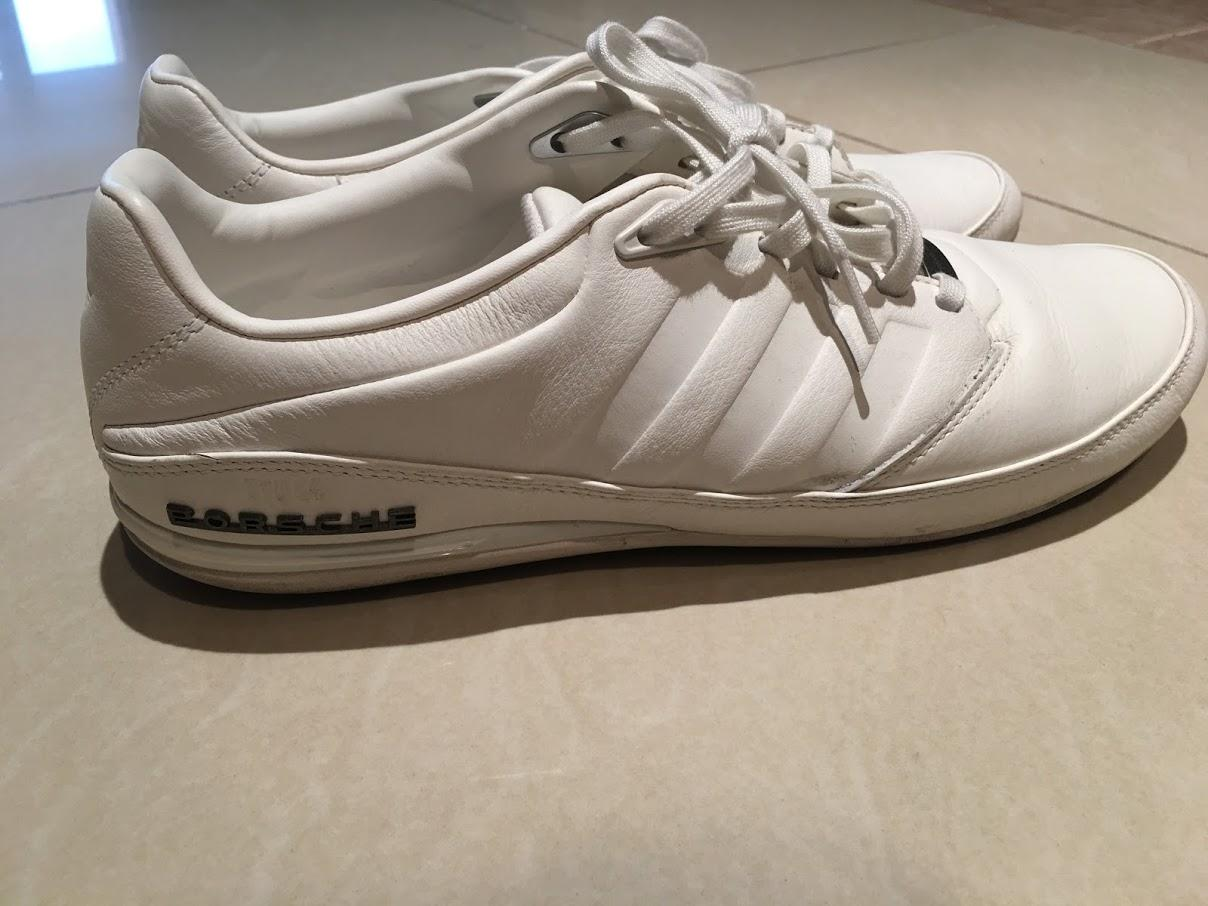 reputable site 93424 0eac9 SIZE 44 White Leather Adidas Porsche Design Typ 64 2.0 Shoes ...